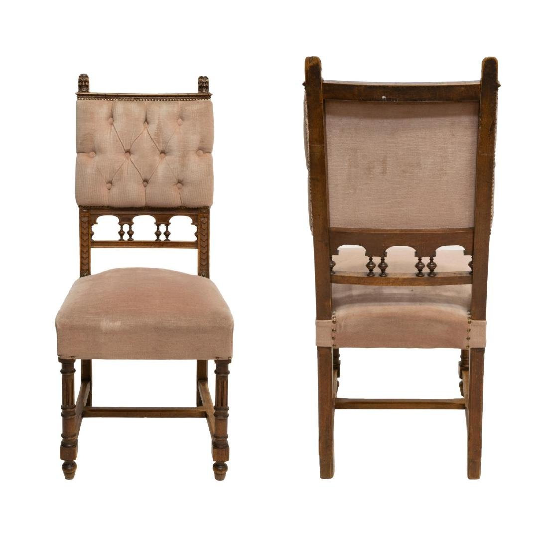 (4) CONTINENTAL BAROQUE STYLE DINING CHAIRS - 2
