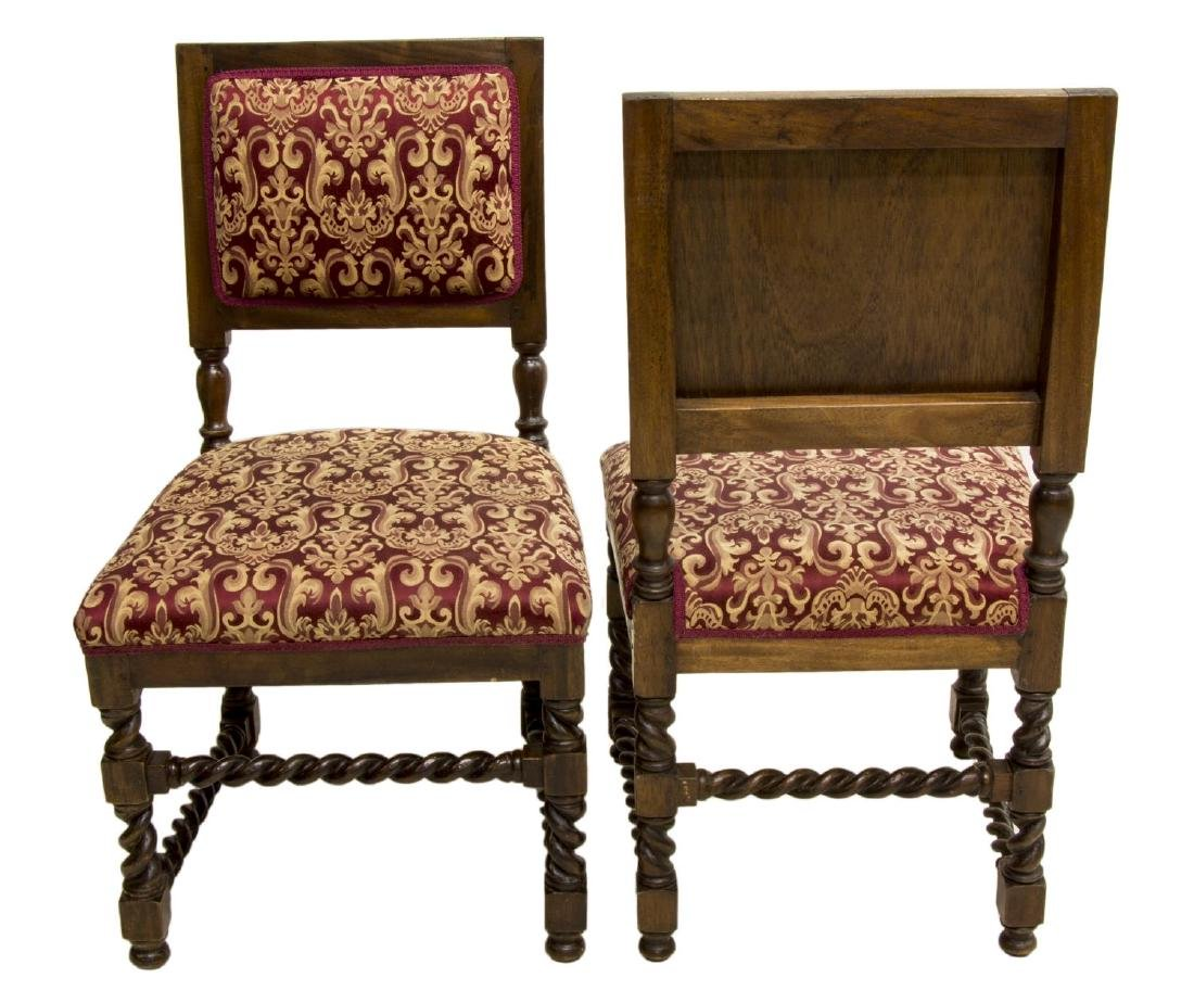 (2) CONTINENTAL SPIRAL CARVED SIDE CHAIRS - 2