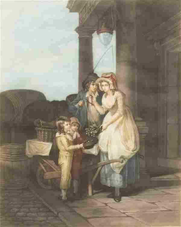FRANCIS WHEATLEY 'THE CRIES OF LONDON' MEZZOTINT
