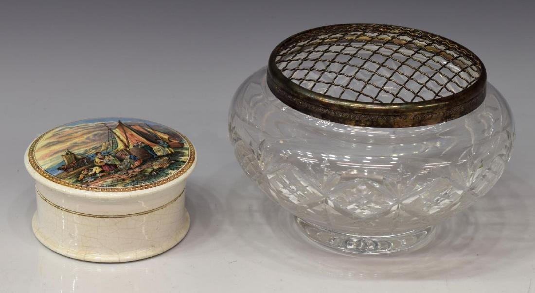 (6) DRESSER/ VANITY BOXES, SILVER GUILLOCHE ENAMEL - 2