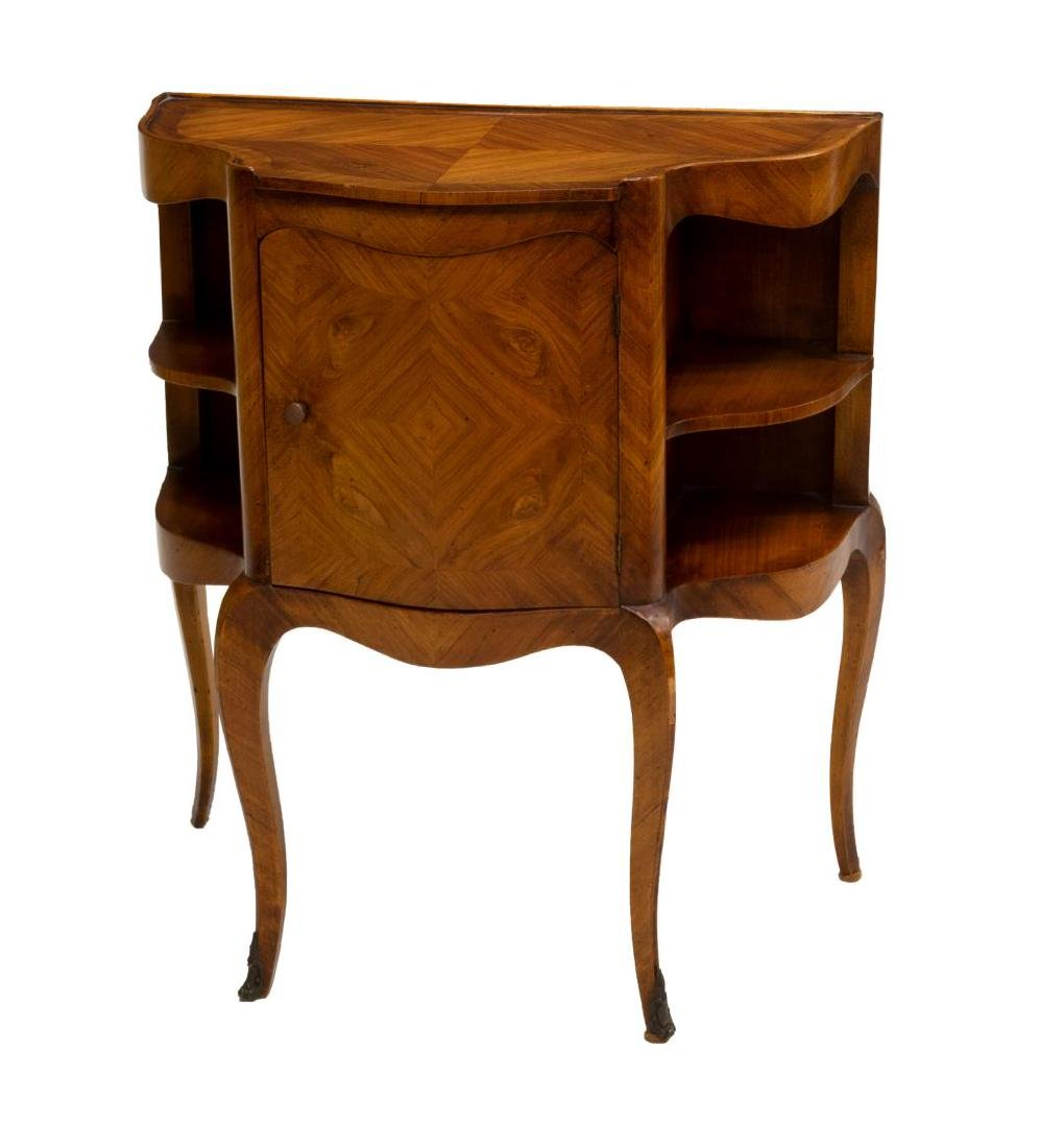 DIMINUTIVE FRENCH LOUIS XV STYLE SIDE CABINET