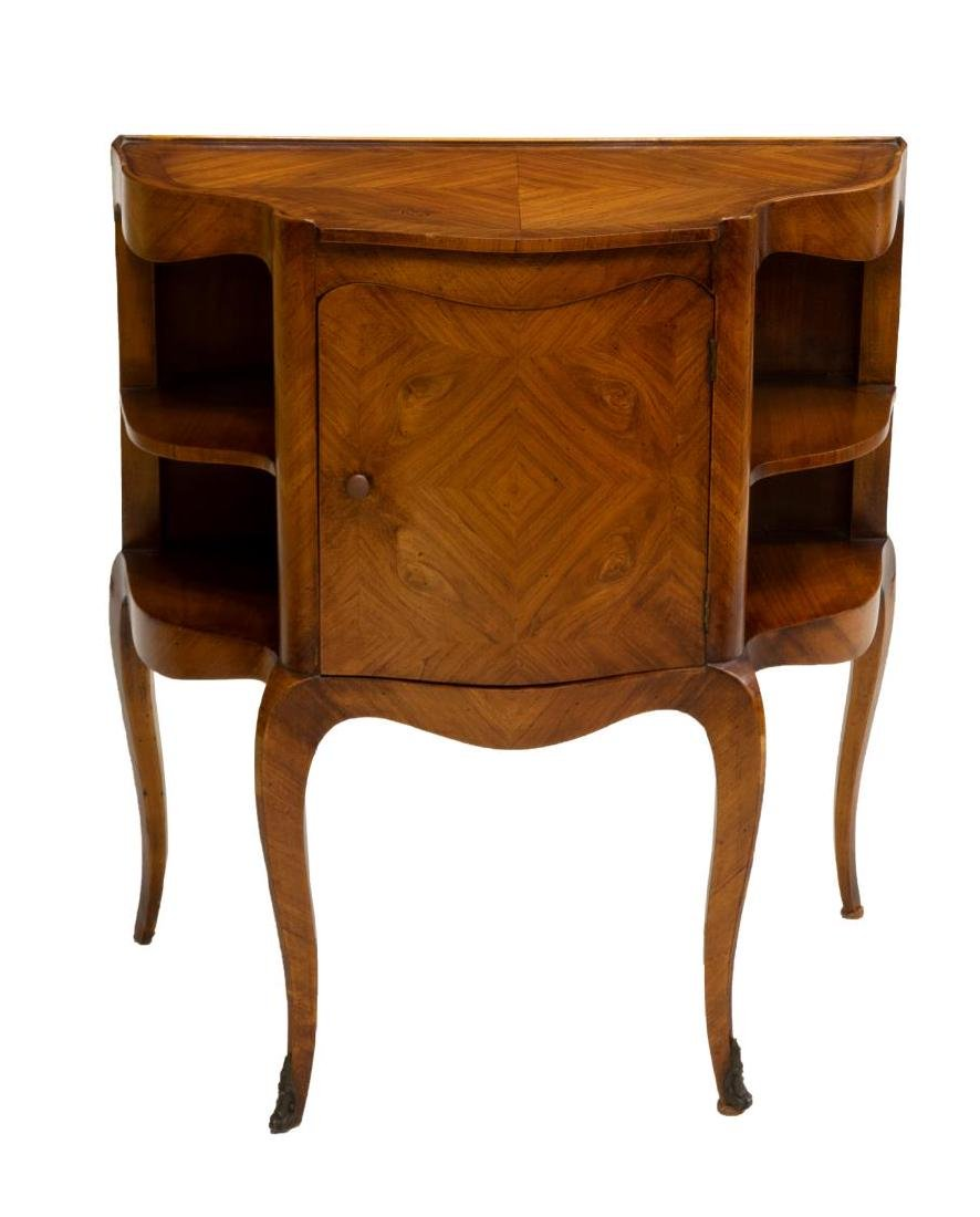 DIMINUTIVE FRENCH LOUIS XV STYLE SIDE CABINET - 2