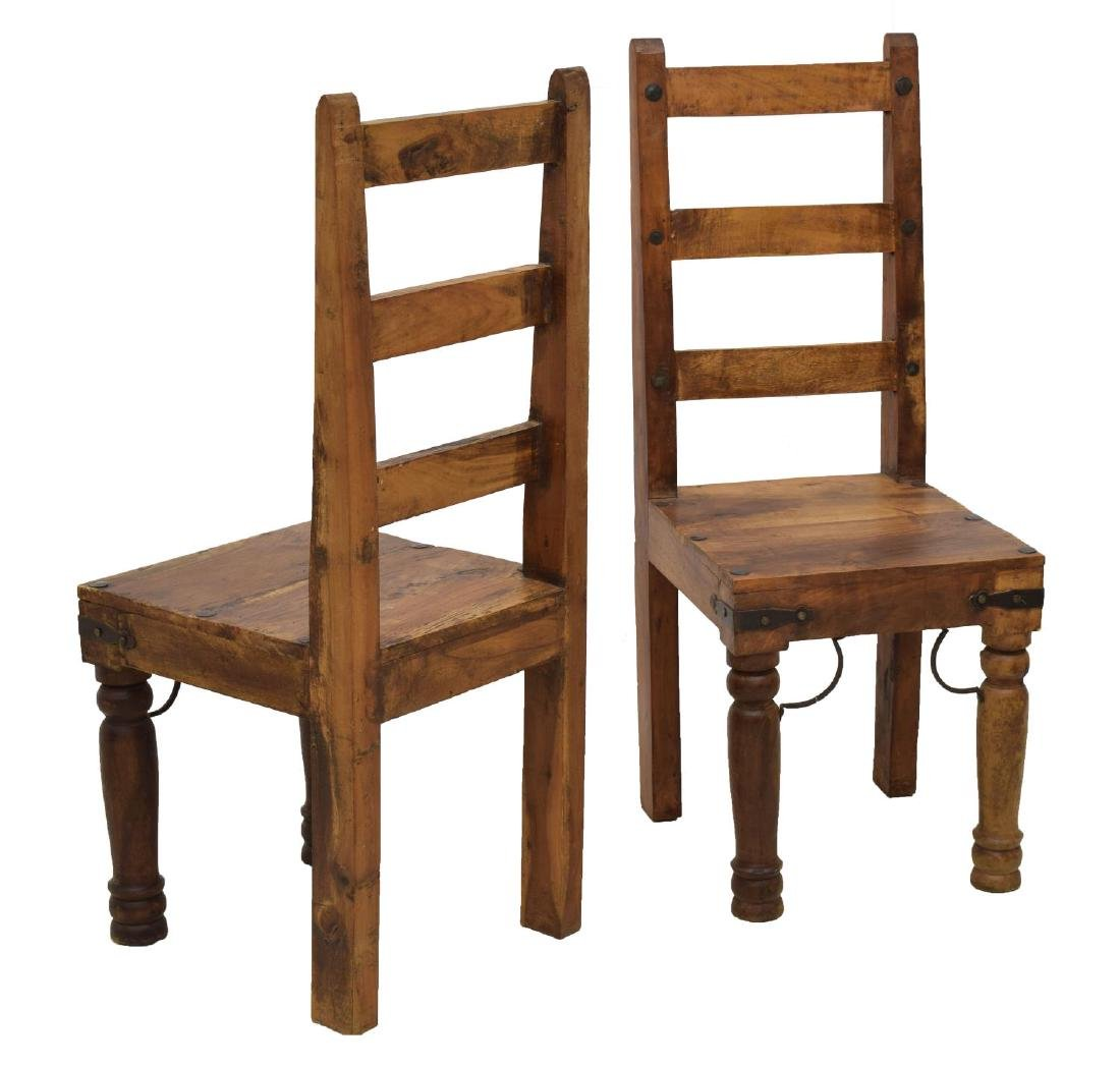 (4) HARDWOOD DINING CHAIRS - 2
