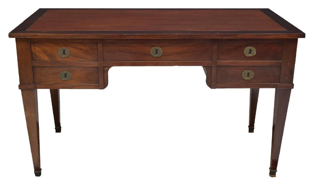 FRENCH EMPIRE STYLE MAHOGANY WRITING DESK - 2