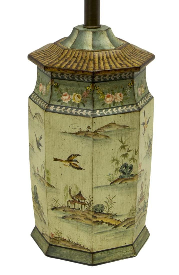 SARREID LTD. CHINOISERIE STYLE TABLE LAMP