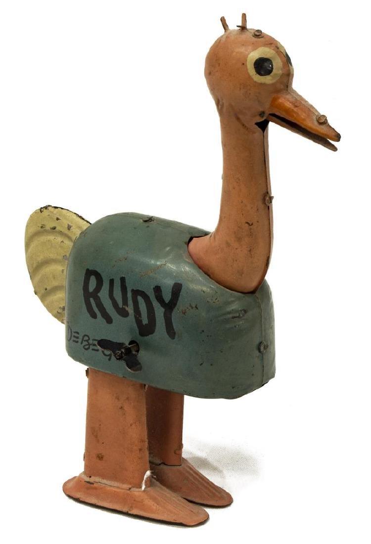 (3)TIN WINDUP TOYS, TRAVELCHIKS, FELIX, NIFTY RUDY - 5