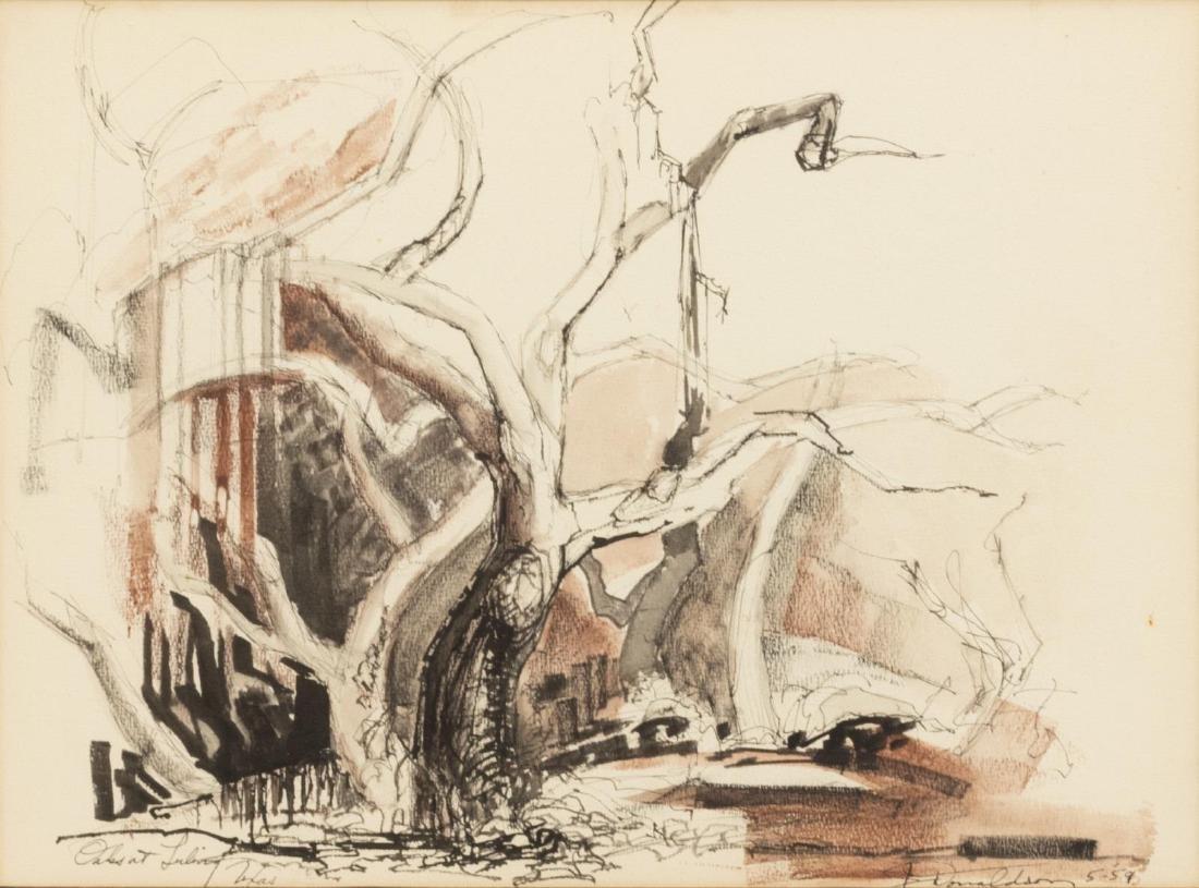 JOSEPH DONALDSON (1914-1997) LULING, TEXAS SCENE