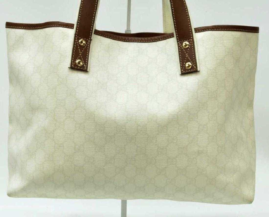 d991d5ac9815 LARGE GUCCI SIGNATURE CANVAS WEB LOOP TOTE BAG