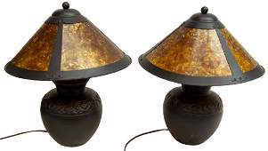 (PAIR) CRAFTSMAN STYLE TABLE LAMPS