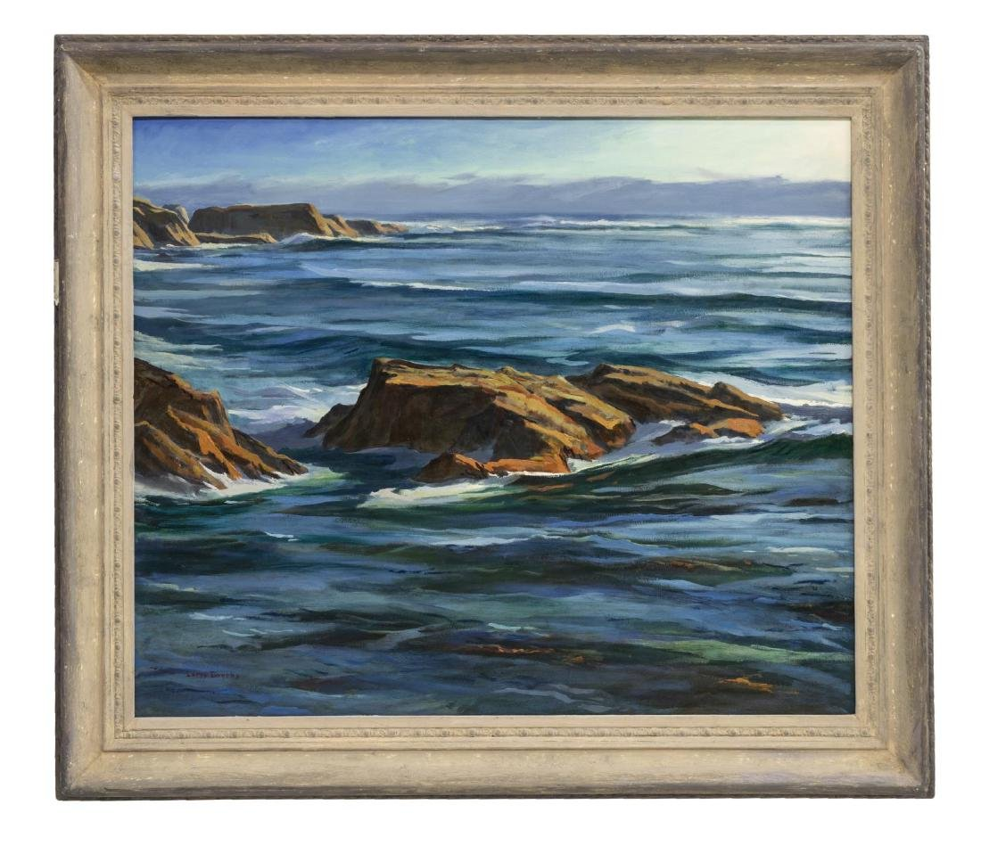 LARRY IWERKS OIL PAINTING OF THE CALIFORNIA COAST - 2