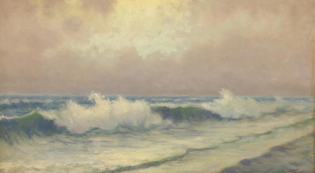 PAUL MERSEREAU (born C. 1873), OCEAN SURF PAINTING
