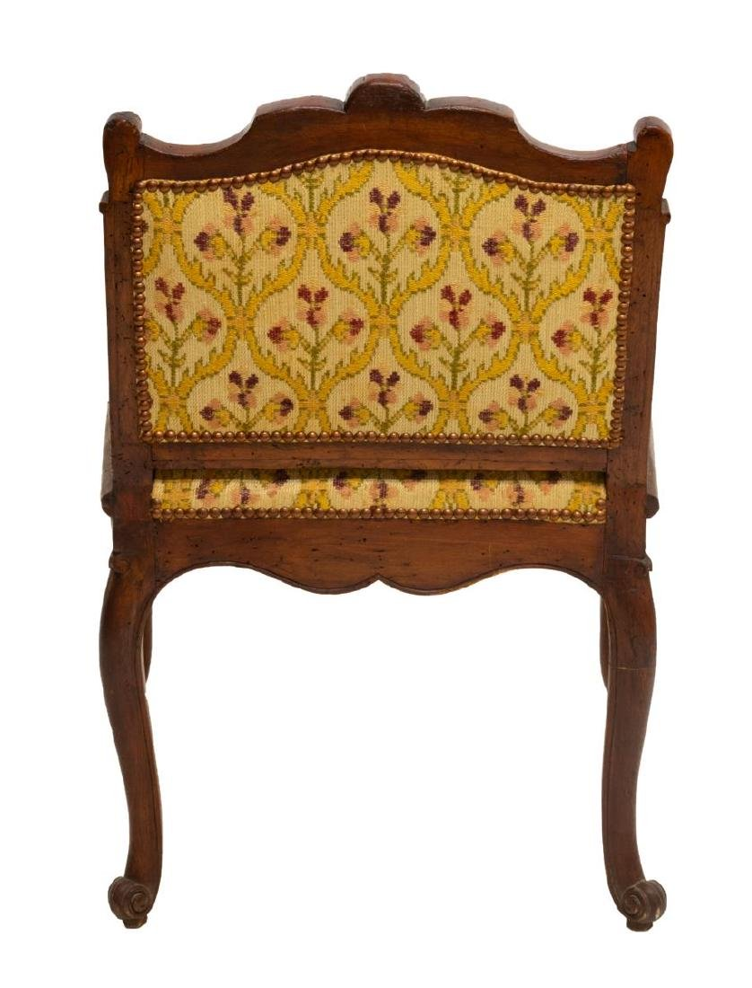 FRENCH LOUIS XV STYLE SHELL CARVED ARM CHAIR - 3
