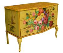 FRENCH LOUIS XV STYLE PAINTED CHEST OF DRAWERS