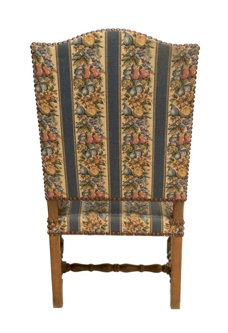 FRENCH LOUIS XIV STYLE UPHOLSTERED ARMCHAIR - 3