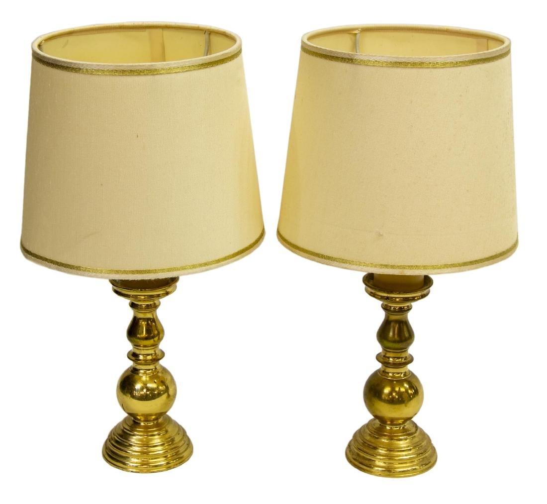 (2) ITALIAN BRASS TABLE LAMPS