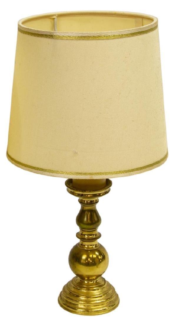 (2) ITALIAN BRASS TABLE LAMPS - 2