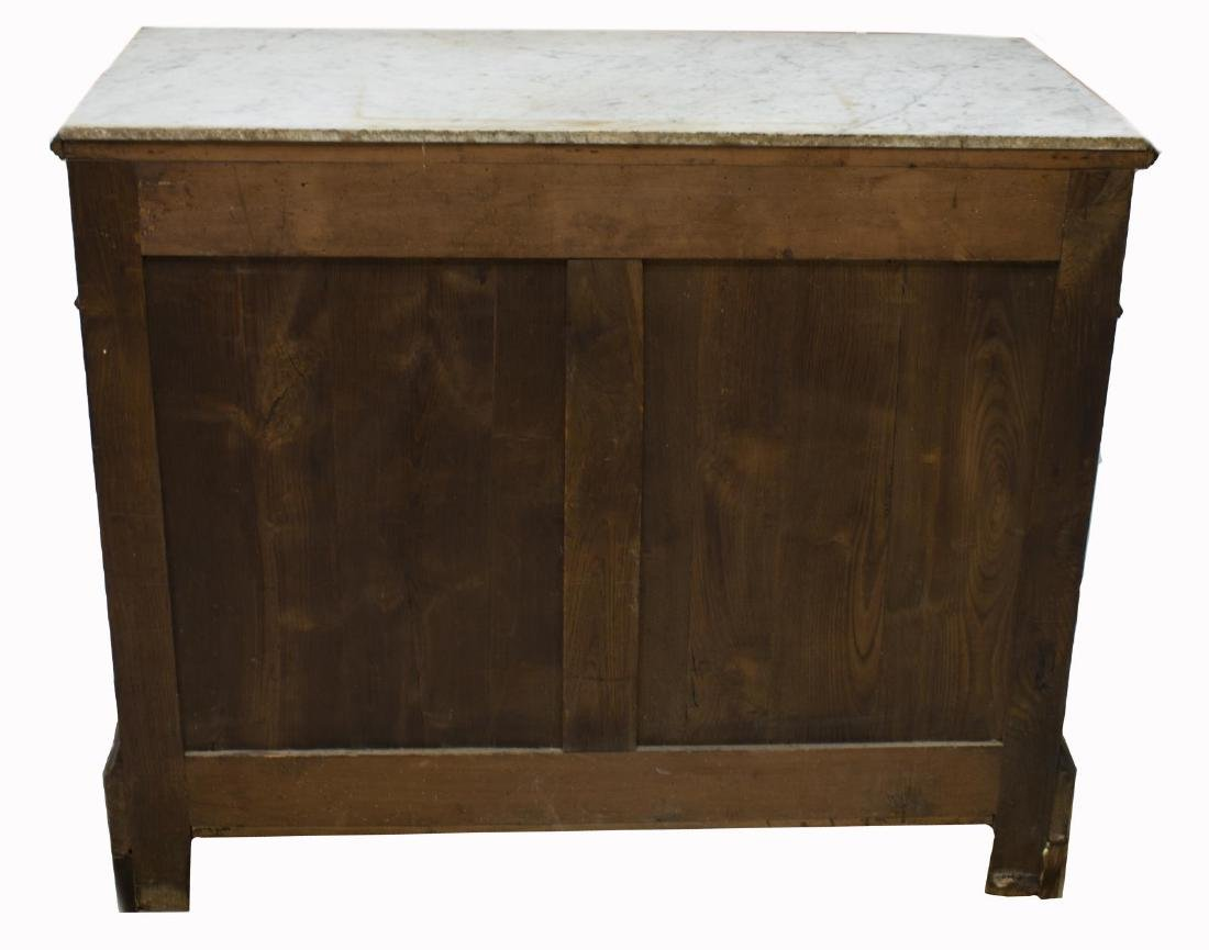 FRENCH LOUIS PHILIPPE MARBLE TOP COMMODE - 4