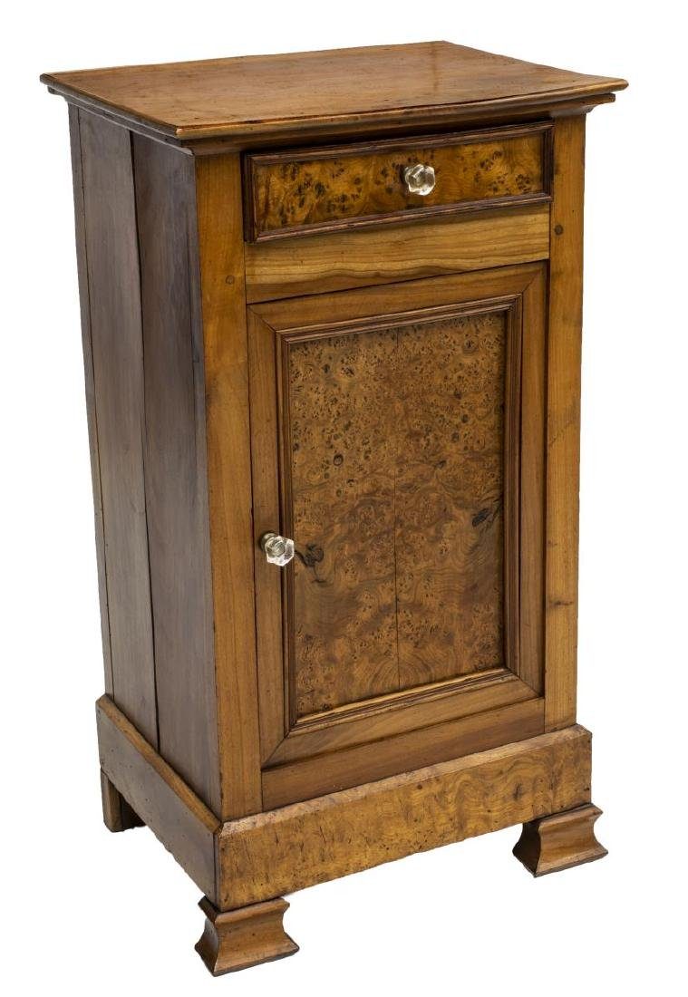 FRENCH LOUIS PHILIPPE PERIOD ELM NIGHTSTAND