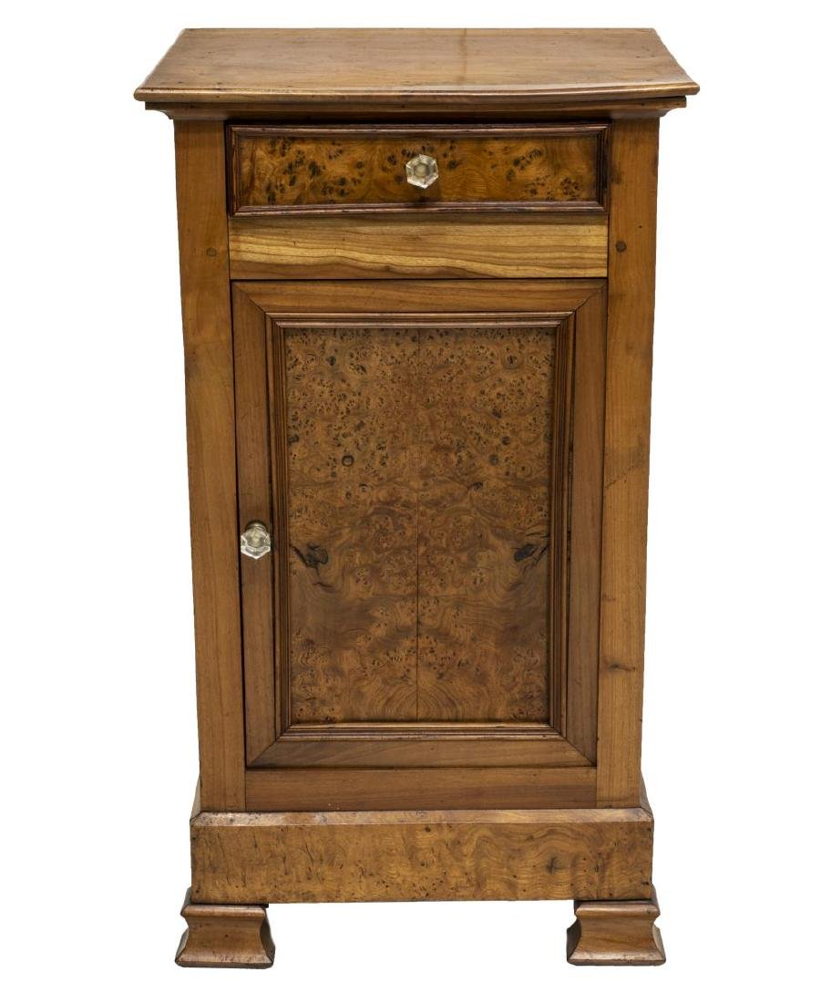 FRENCH LOUIS PHILIPPE PERIOD ELM NIGHTSTAND - 2