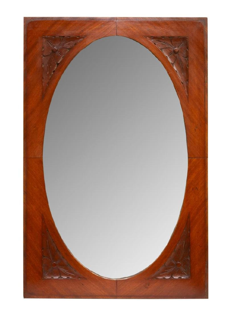 ITALIAN ART NOUVEAU CARVED WOOD MIRROR