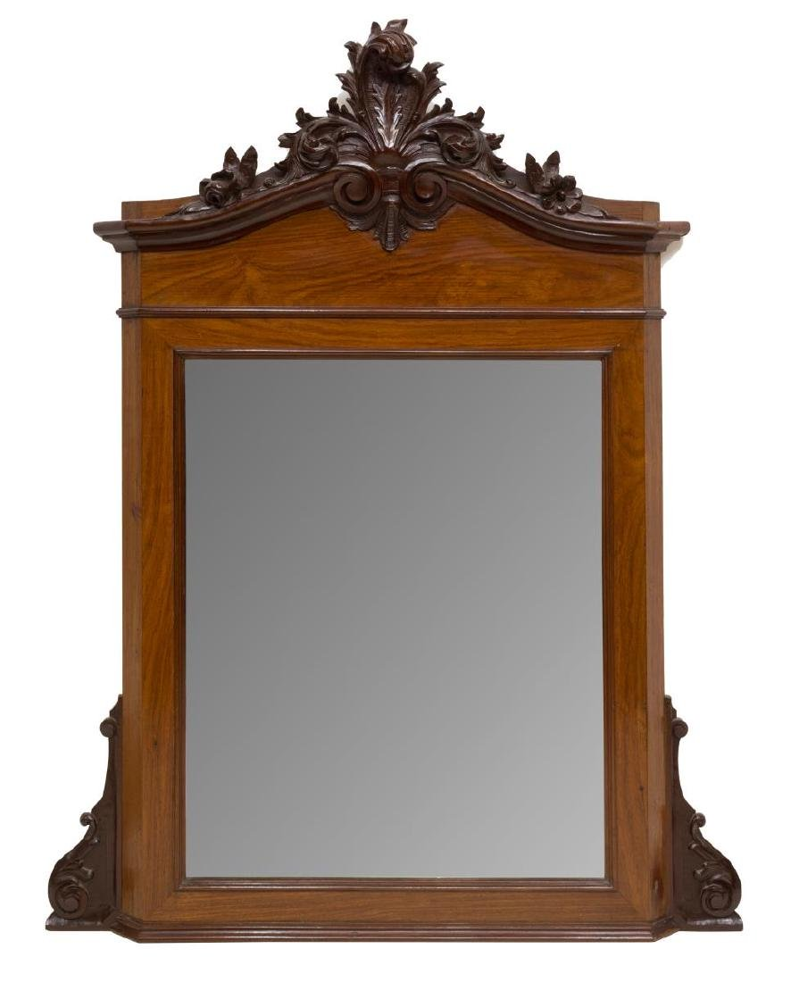 LOUIS PHILIPPE CARVED MAHOGANY WALL MIRROR