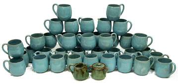 40 NORTH CAROLINA ART POTTERY HANDLED CUPS