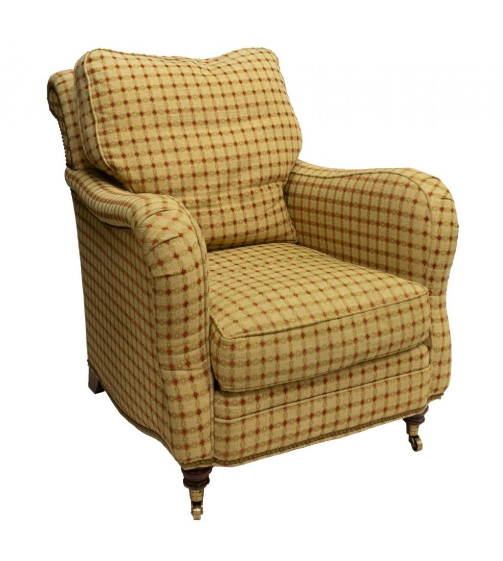 HICKORY CHAIR UPHOLSTERED LOUNGE CLUB ARMCHAIR