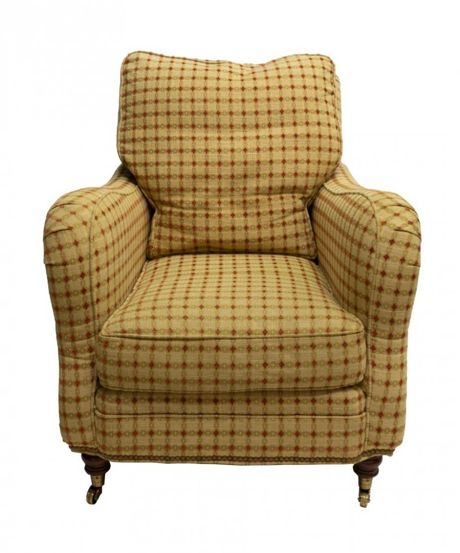 HICKORY CHAIR UPHOLSTERED LOUNGE CLUB ARMCHAIR - 2