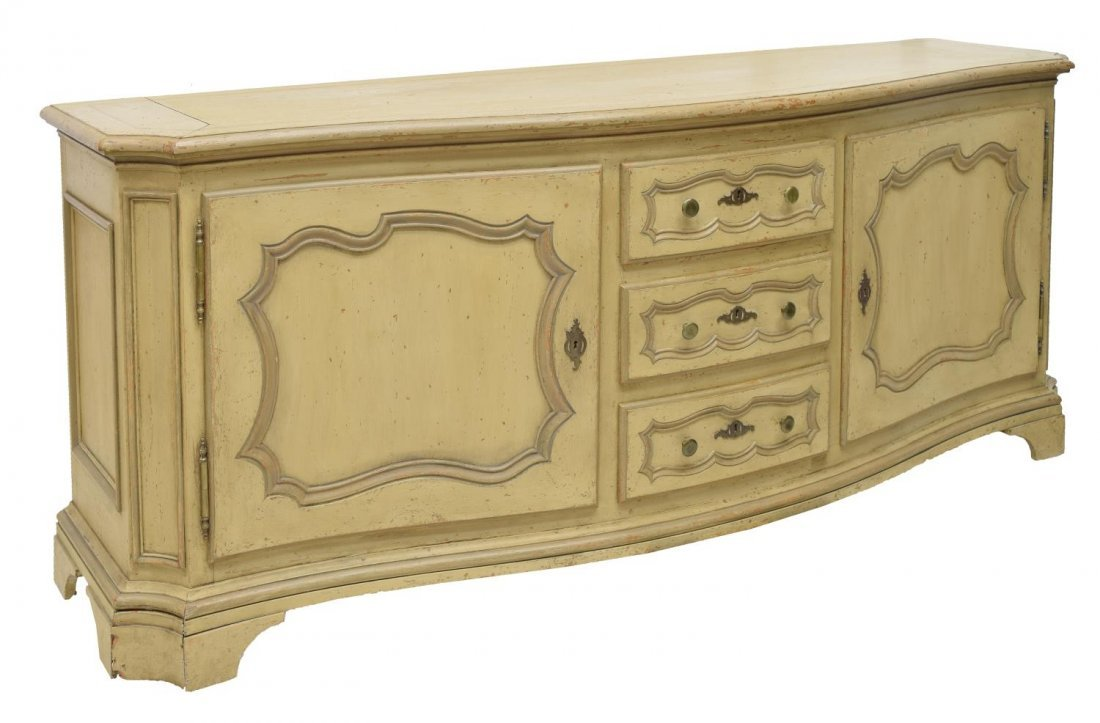 FRENCH STYLE PAINTED OAK SIDEBOARD