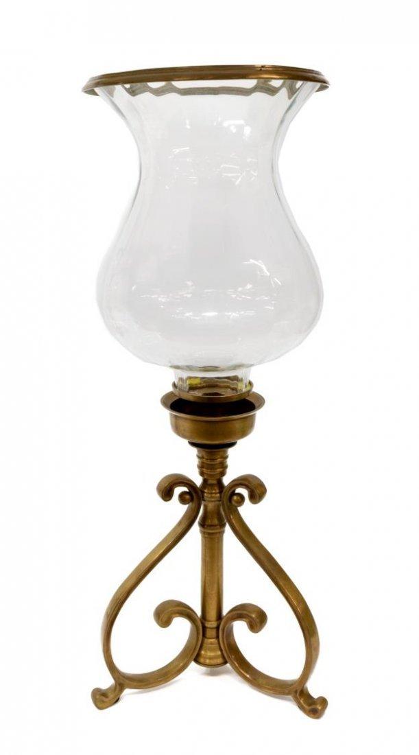 (PAIR) DECORATIVE CANDLE HURRICANE LAMPS - 2