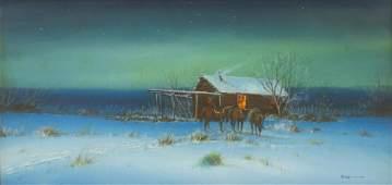 ARTURO MERCADO (TX, 1938-2015) GOUACHE PAINTING