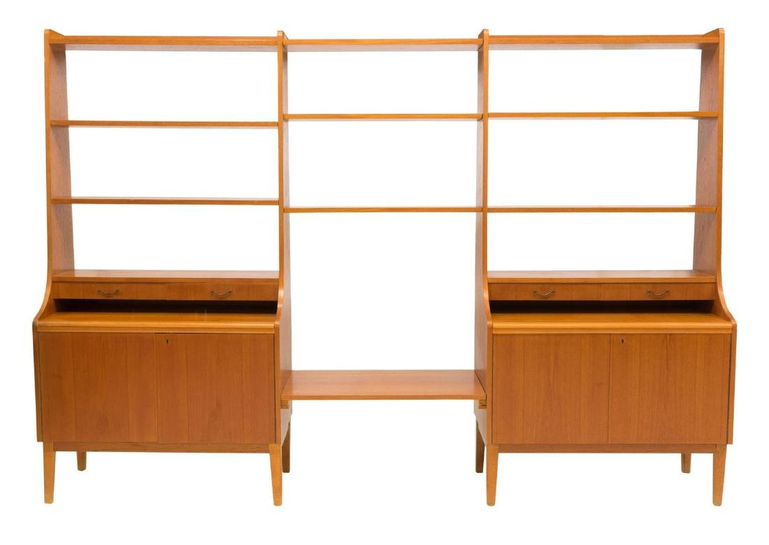 DANISH MID-CENTURY MODERN TEAK WALL UNIT