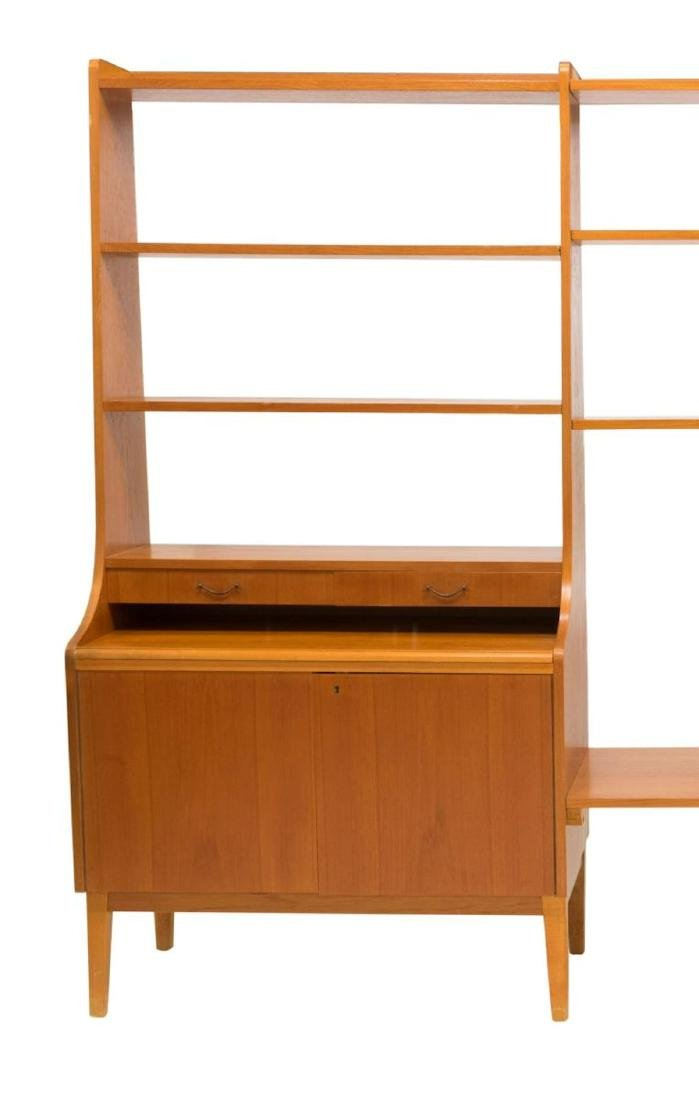 DANISH MID-CENTURY MODERN TEAK WALL UNIT - 2