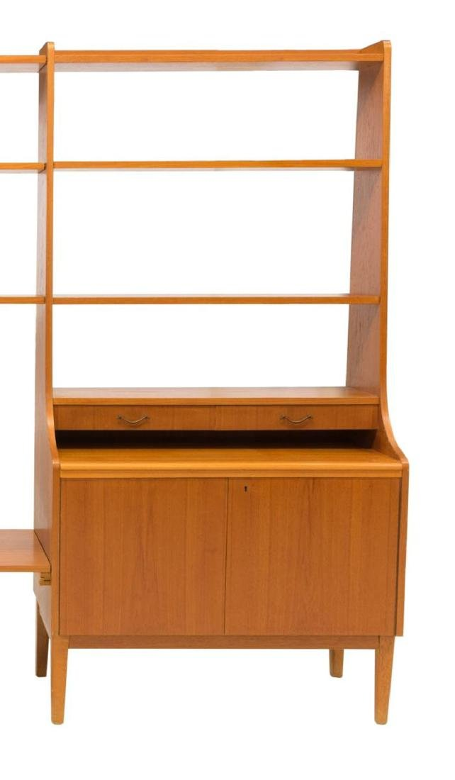 DANISH MID-CENTURY MODERN TEAK WALL UNIT - 3