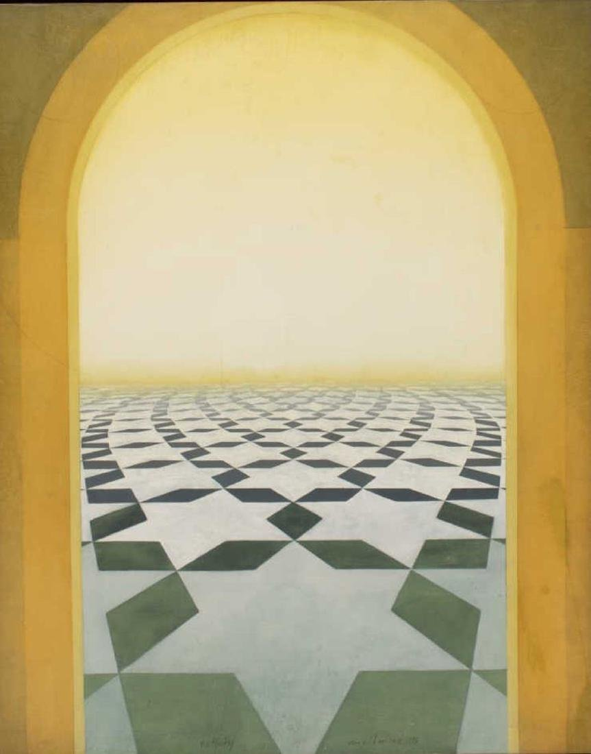 RON RICHMOND (B.1941) OIL ON BOARD PAINTING