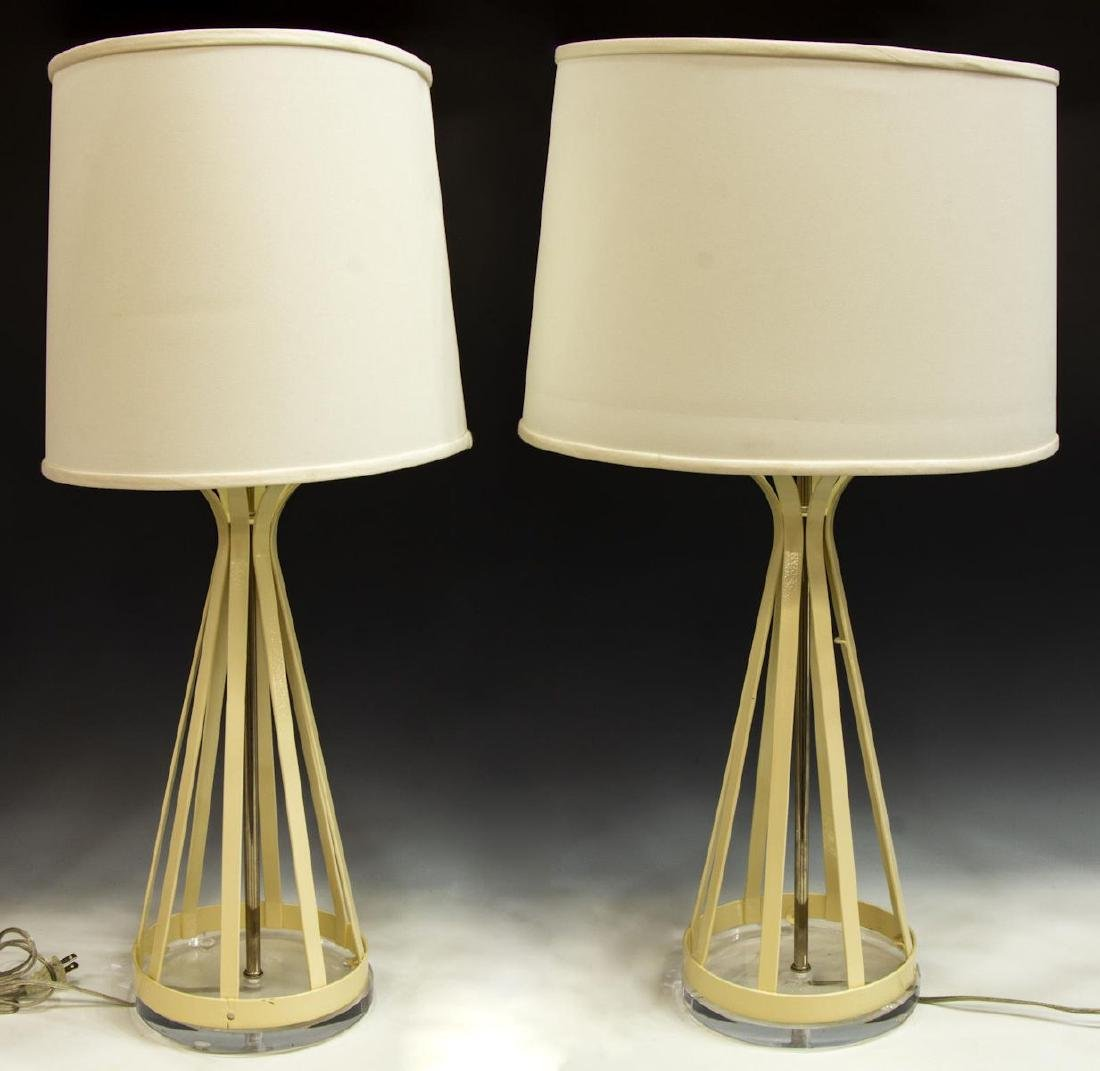 (2) LAUREL TABLE LAMPS WITH LUCITE BASES