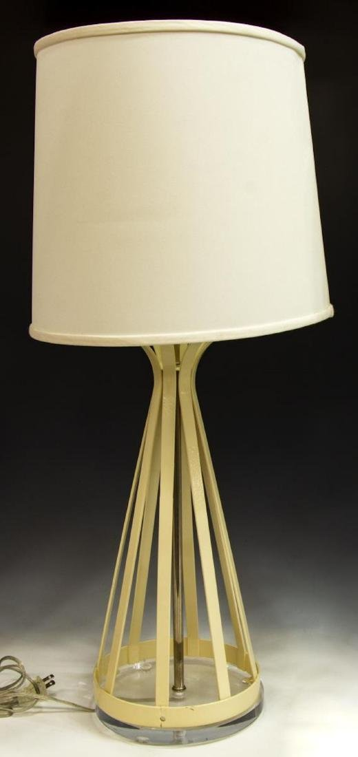 (2) LAUREL TABLE LAMPS WITH LUCITE BASES - 2