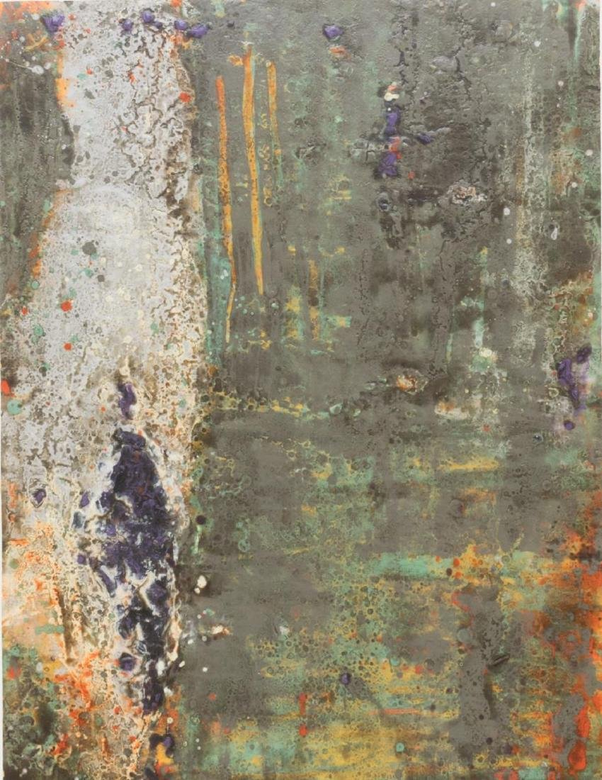 FRAMED ABSTRACT PAINTING, STEPHEN ALEXANDER - 2