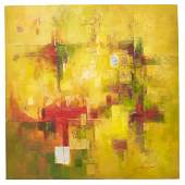 MODERN ABSTRACT MIXED MEDIA PAINTING ON CANVAS