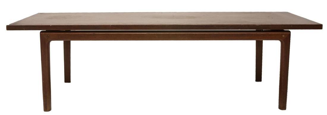 DANISH MID-CENTURY MODERN TEAKWOOD COFFEE TABLE - 2
