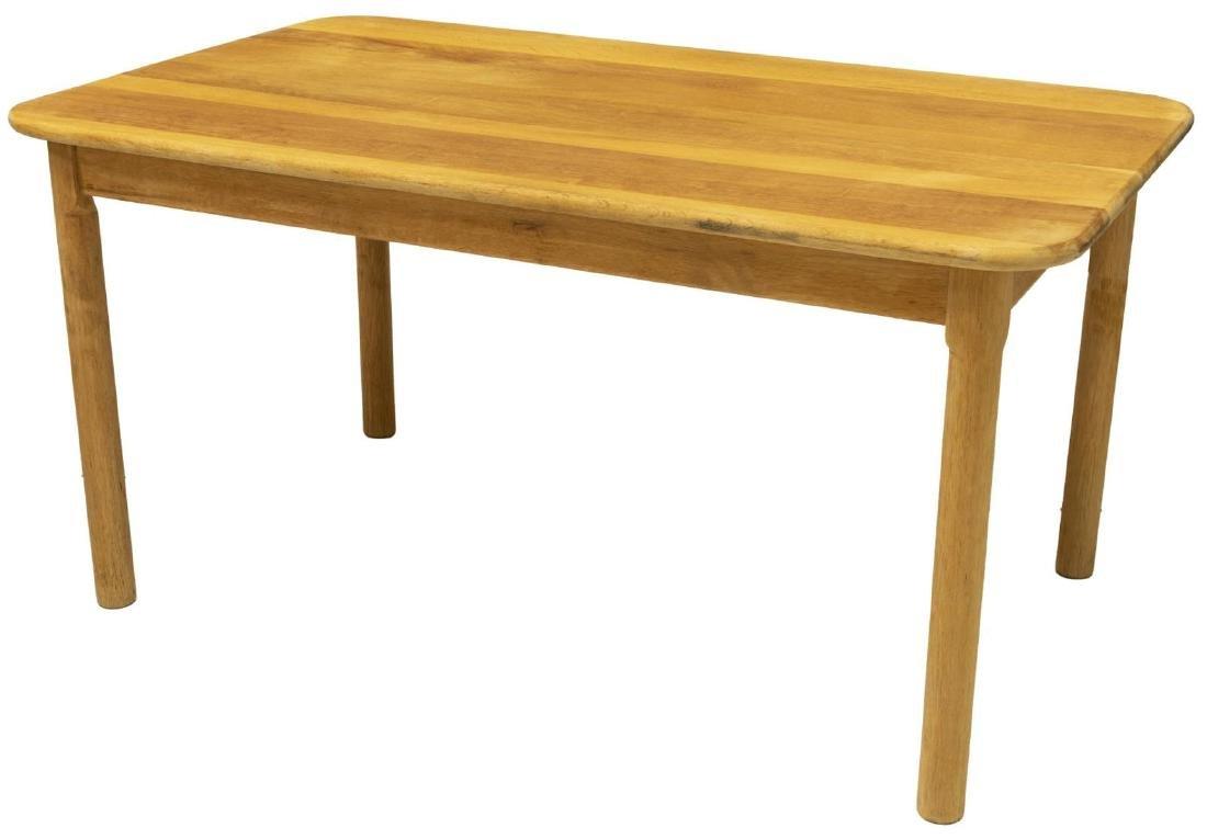 DANISH MID-CENTURY MODERN OAK COFFEE TABLE