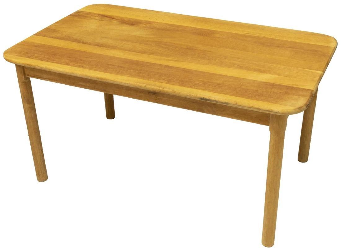 DANISH MID-CENTURY MODERN OAK COFFEE TABLE - 2