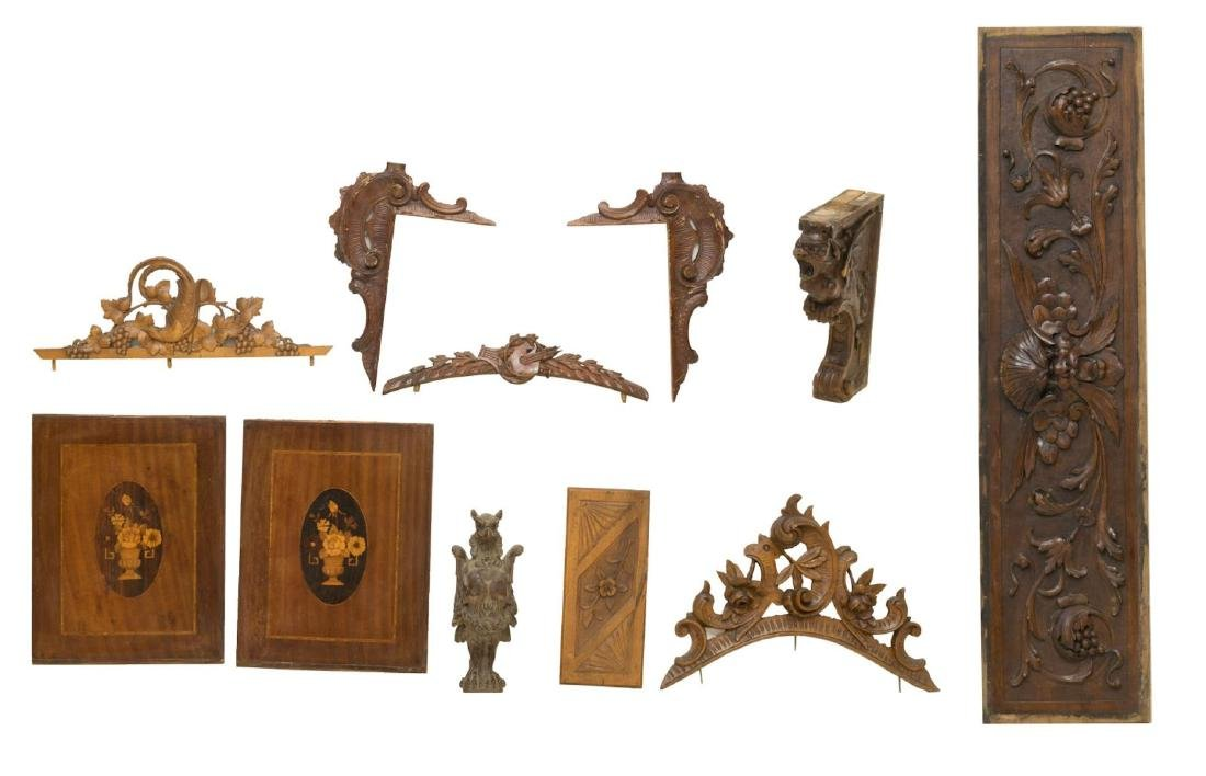 (8) CONTINENTAL CRESTS & ARCHITECTURAL ELEMENTS