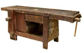 CONTINENTAL CRAFTSMAN'S WOOD WORK BENCH TABLE
