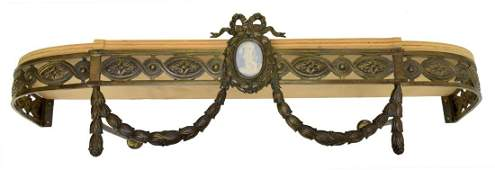 LOUIS XVI STYLE CANOPY BED CROWN, PLAQUE