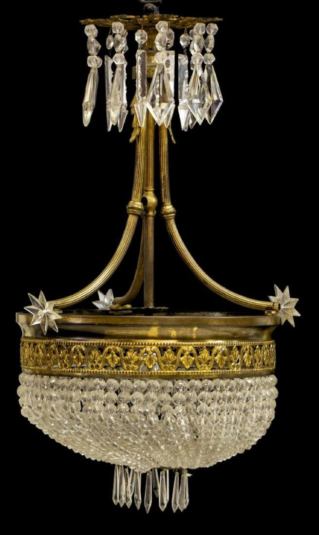 FRENCH EMPIRE STYLE CEILING LIGHT CHANDELIER - 2