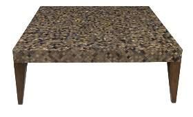 "MODERN MOSAIC ACRYLIC TILE COFFEE TABLE, 47""x 47"""