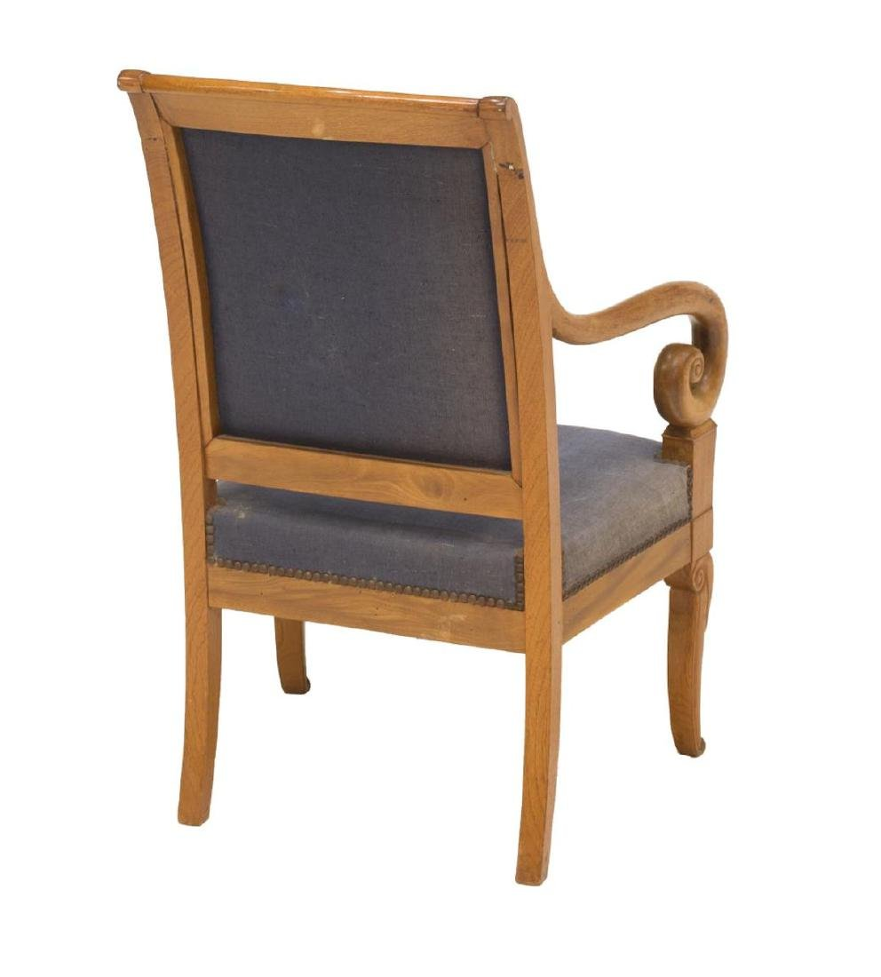 FRENCH CHARLES X UPHOLSTERED ARMCHAIR - 3