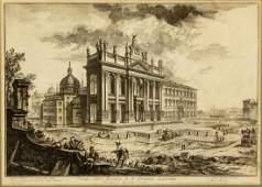 PIRANESI (D.1778) BASILICA ST JOHN LATERAN ETCHING