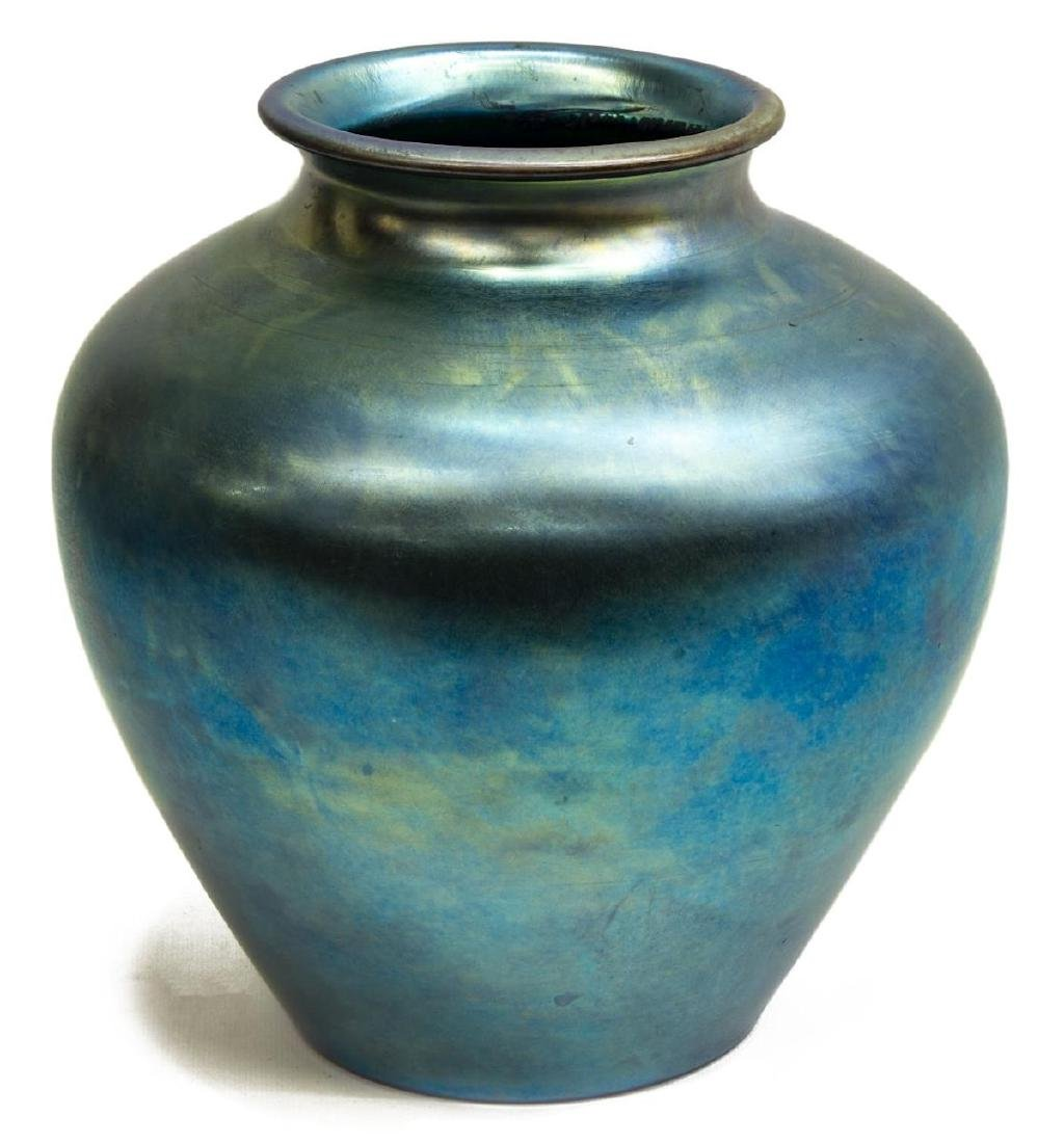 CARDER STEUBEN BLUE AURENE ART GLASS VASE 2683
